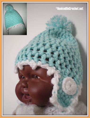 Newborn Baby Trapper crochet hat