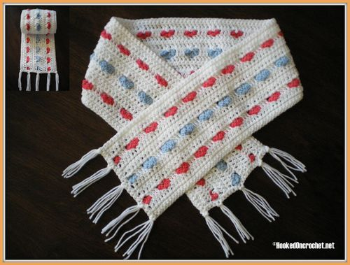 Candy hearts toddler scarf