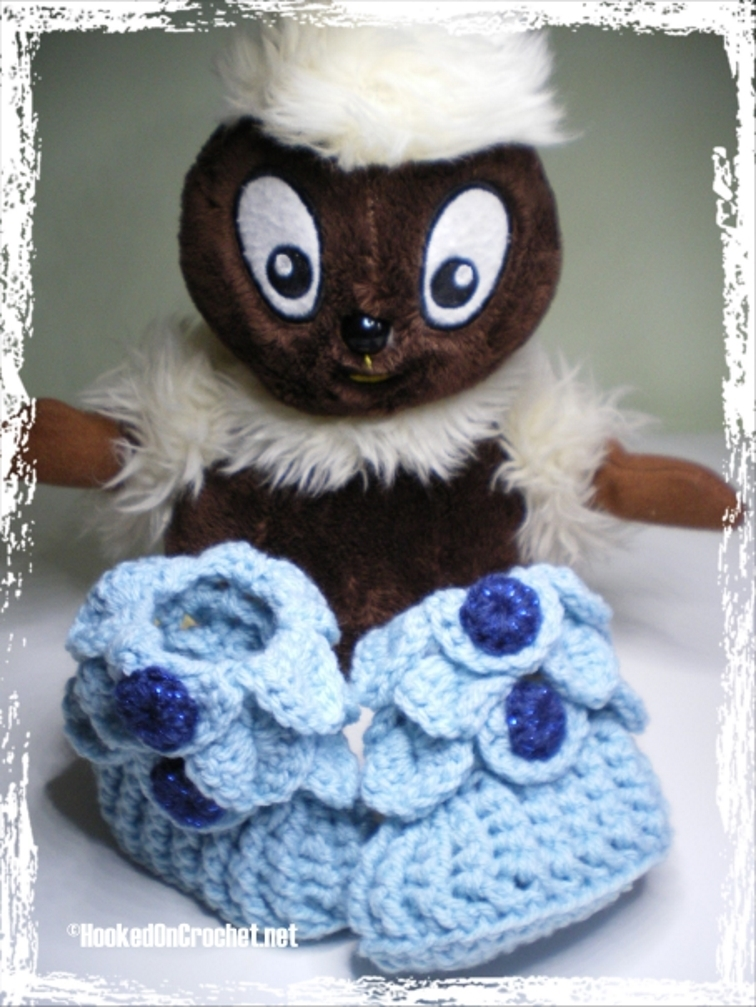 Dragon Scale Baby Booties - blue