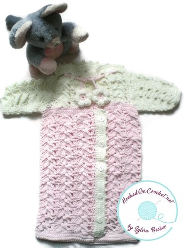 Crochet Baby Sleeping Bag - Pink Love