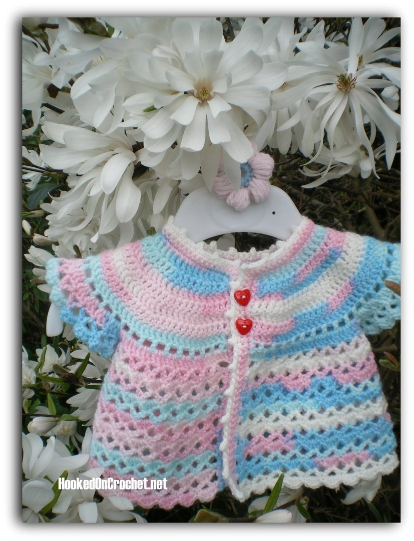 Crochet baby Cardigan - Candy