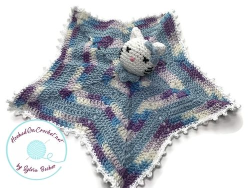 Hello Lucky Lovey, easy crochet pattern