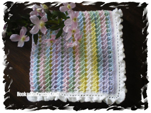 Crochet Baby Blanket - pastel colours