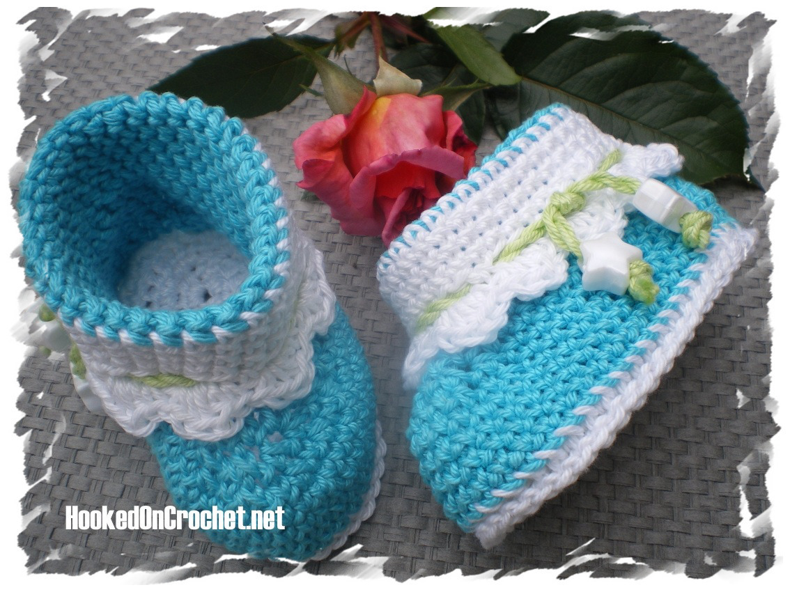 Baby Ankle Booties Turquoise Summer Breeze