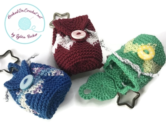 Crochet Mini Backpack Keychain