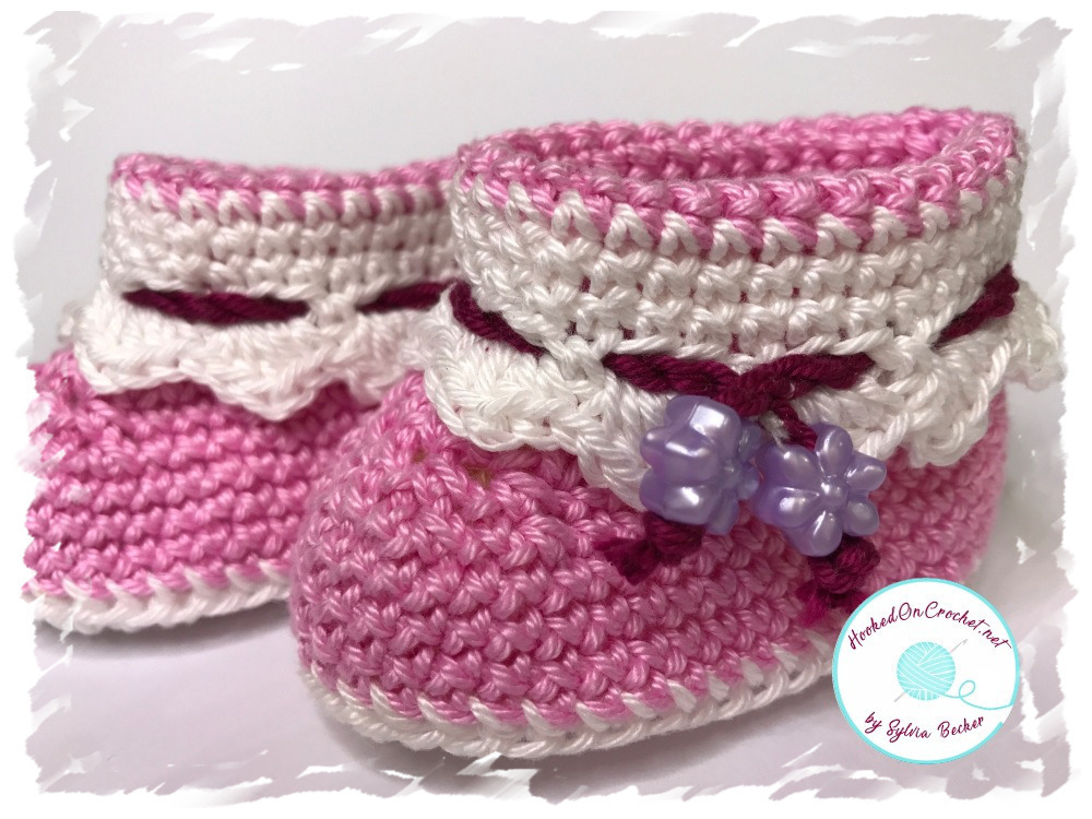 Baby Ankle Booties Pink Summer Breeze