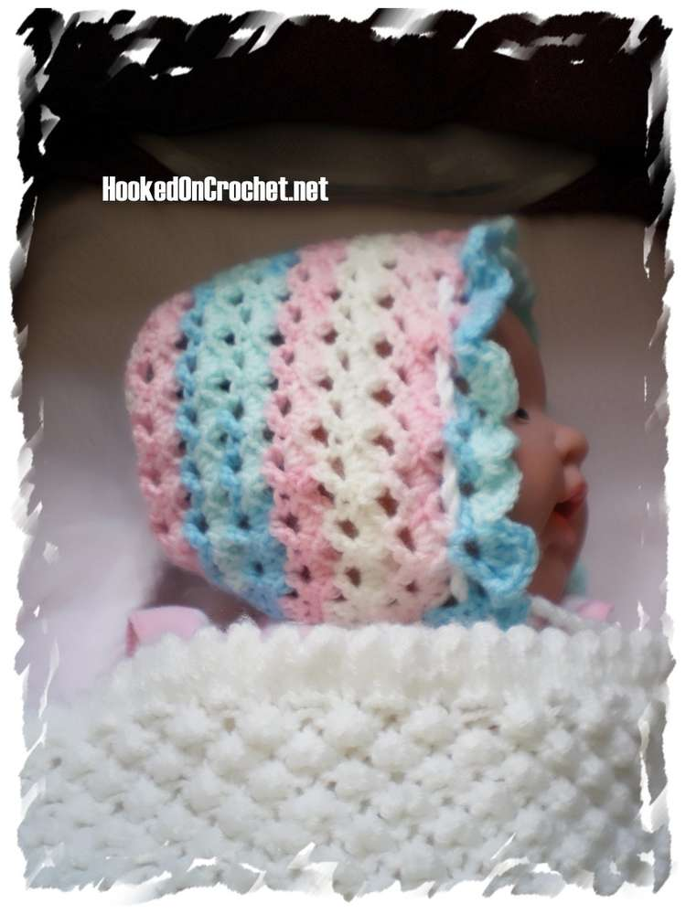 Vintage Style Sundays Best Baby Bonnet Unique Crochet Design