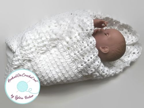 Crochet Christening or Baptism Blanket