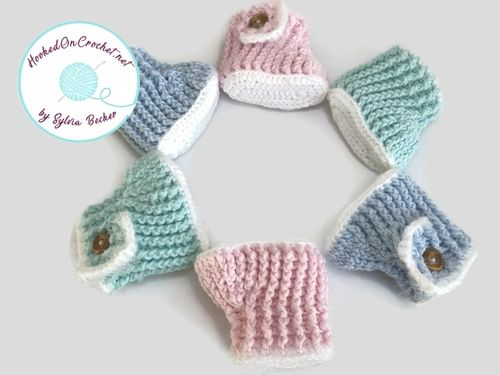 Crochet Baby Bootie with Button Clasp