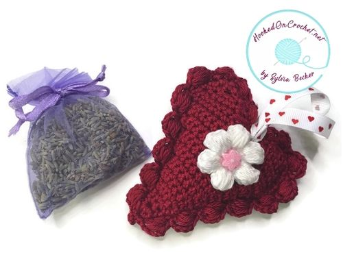 Crochet Refillable Lavender Heart