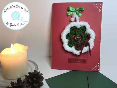 Christmas cards with Christmas Wreath Decoration