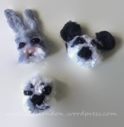 Needle Felted Pom Pom Animal Easter Cards
