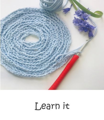 Online - Private crochet session, 3 persons/ 1 hour